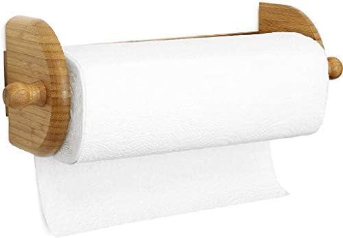 Amazon Com Greenco Premium Bamboo Wall Mount Paper Towel Holder Kitchen Dining
