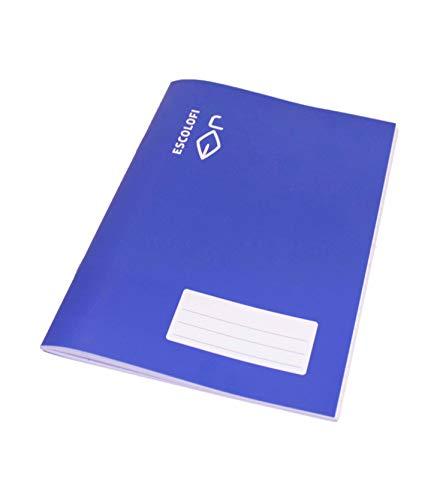 Escolofi - Libreta grapada cuarto 32 hojas 70 gramos montessori pauta 3,5 tapa blanda