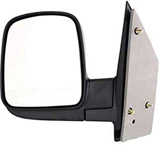 Aftermarket Replacement Drivers Manual Side View Mirror Sail Mounted Textured Compatible with 96-02 Express Savana Van