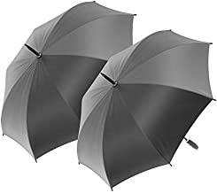 2-Pack Nautica Golf Umbrella - Large, Portable, Lightweight & Folding - Best Windproof Umbrellas for Rain, Sun & Wind Resistant Protection, Collapsible Two Person Coverage in Pink, Lime, and Grey
