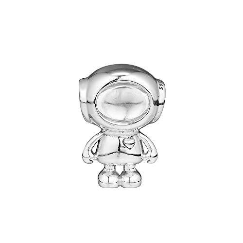 LIIHVYI Pandora Charms para Mujeres Cuentas Plata De Ley 925 Lindo Regalo De Joyería Cosmo Tommy Astronaut Compatible con Pulseras Europeos Collars