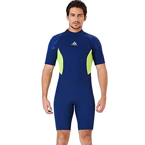 ZFFLYH Traje de neopreno para hombres y mujeres, 1,5 mm, neopreno, de una sola pieza, cálido traje de neopreno de manga corta, protector solar, esnórquel, natación, surf, talla XXL