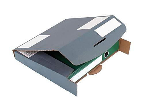 Progress PC O01.01 020 Ordner-Transport-Box 320x 288x 50mm anthrazit DIN A4 Ordner ** Verpackungseinheit: 20 Stück **