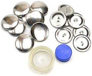 くるみボタンキット 包み つつみ パーツ (打ち具付) 29mm 7組入 (足付きタイプ) 2パッケージセット