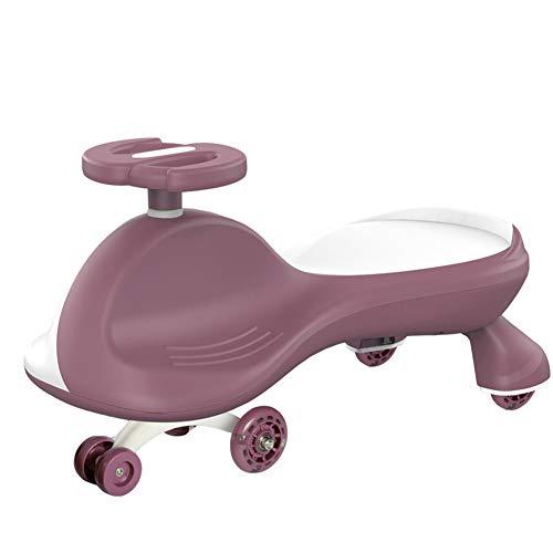 QqHAO Coche Twist's Twist, Four-Wheel Scooter Rollover Prevención Coche Swing con música y luz, para niños y niñas de 1 a 6,4