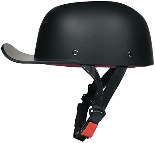 Halbhelm Jet-Helm Oldtimer Cromwell Motorradhelm Brain-Cap,ECE Zertifizierter Erwachsene Halbschale Jet-Helm Scooter-Helm Mofa-Helm Sicherheitshelm 7,M=57-58CM