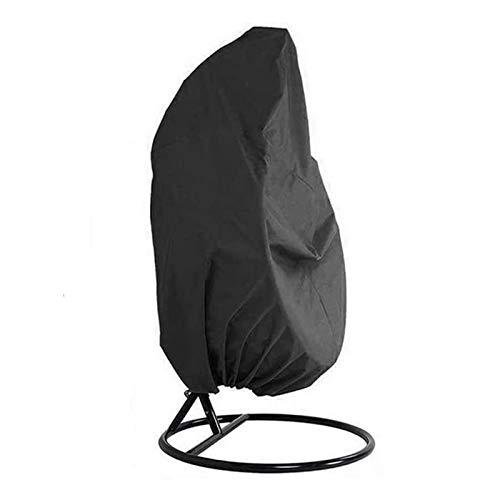 Fablcrew Housse de Fauteuil Suspendu Couverture de Chaise Suspendue Housse de Protection pour Oeufs Chaise Housses Imperméable 210D Oxford 190 * 115CM Noir