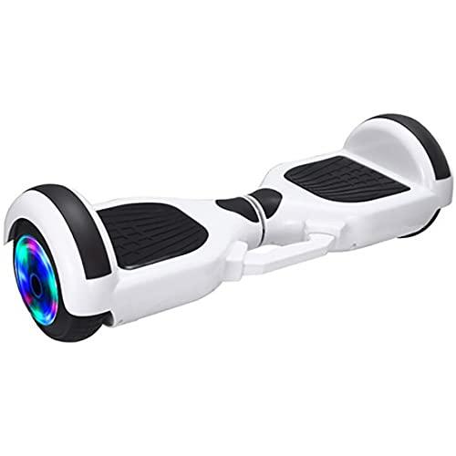 """Retoo Hoverboard mit LED Licht und Bluetooth, Self Balance Hover Scooter Board mit Eingebaute Lautsprecher und leistungsstarkem Motor, Escooter für Kinder und Jugendliche (Weiß, 6,5\"""")"""