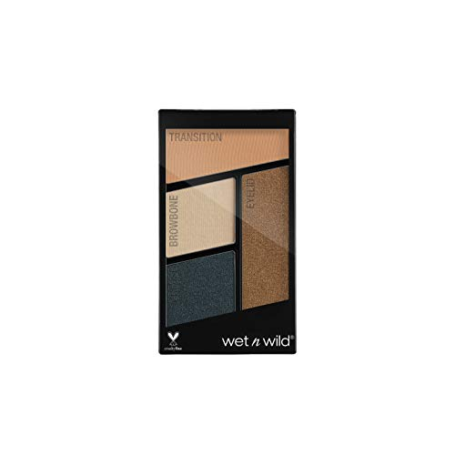 Wet N Wild – Coloricon Eyeshadow Quad –Lidschattenpalette mit 4 hochpigmentierten Farben, Hooked...