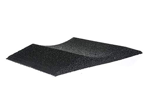 Unbekannt (1 Stück) Reifenschuh Reifenbett Reifenwiege aus Gummigranulat 200mm breit bis 195er Reifen