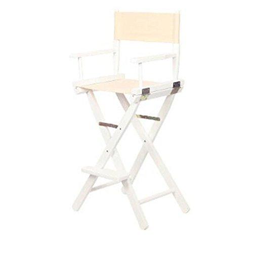 Chaises pliantes Xiaolin Chaise de pêche en Plein air Tabouret Haut Tabouret de Bar Chaise Chaise de Balcon Chaise en Toile (Couleur : Beige)