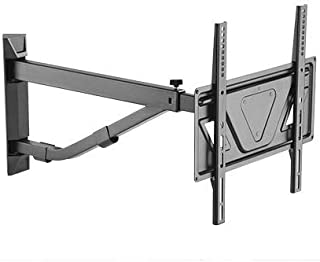 """Mount Plus MP-LPA60-443C Corner Telescoping Full Motion Heavy Duty TV Wall Mount for Most 32""""~50"""" with Max VESA 400x400 I Extra Long Arm Extend 31.6 Inche (Corner Wall Mount)"""