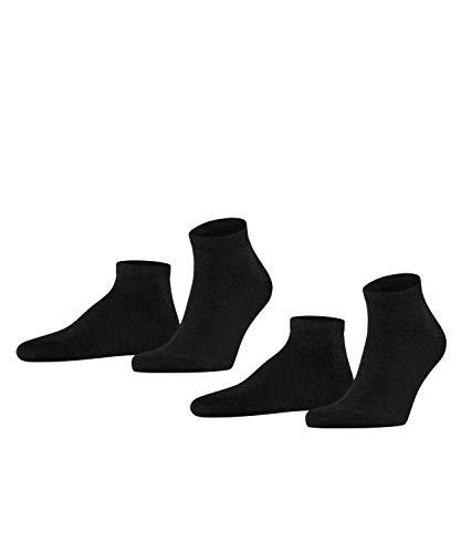 FALKE Herren Sneakersocken Happy - 85% Baumwolle, 2 Paar, Schwarz (Black 3000), Größe: 43-46