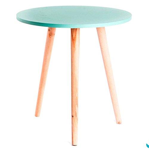 Indhouse Table d'appoint design scandinave style nordique en bois Aguamarina