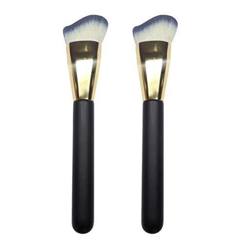 Lurrose 2pcs Maquillage Pinceau En Forme D'arc Brosses Cosmétiques avec Poignée En Bois pour Femmes
