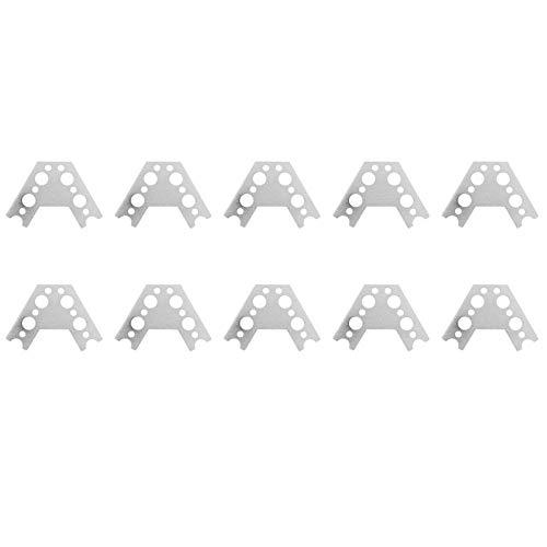 10 stuks mapjes 60 graden 7005 aluminium aansluiting robotische keukenmachine accessoires voor keukenmachine