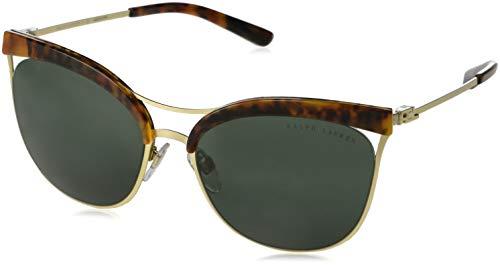 Ralph Lauren 0RL7061 Gafas de sol, Jerry Havana/Sanded Light Gold, 56 para Mujer
