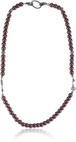EDC Damen-Halsband Edelstahl rhodiniert Perlmutt Innocent Pearly Rose pink EENL10229A420