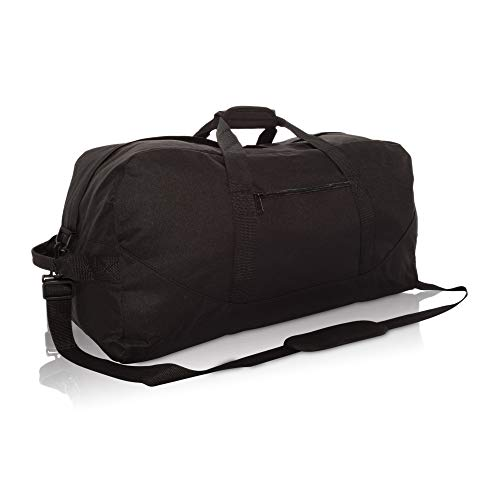 DALIX 25' Big Adventure Large Gym Sports Duffle Bag in Black