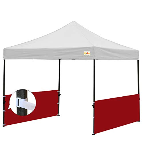 ABCCANOPY Two Half Walls for 10x10, 10x15, 10x20 Pop Up Party Tent Canopy(2 Half Walls Only. Tent Purchased Separately) (red)