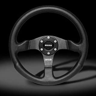 Momo Competition Black Leather Steering Wheel