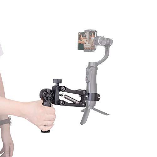 DIGITALFOTO Gimabl Zubehör Smartphone & Action Kamera Stabilisator Zubehör Feder Einzelgriff 4. Z-Achse Kompatibel für ZHIYUN Smooth 4 / DJI OSMO Pocket & Mobile 2