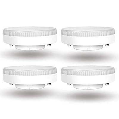 Litevance 4 Pcs LED GX53, 7W, 560lm, Warm White 3000K, Under Cabinet Light AC 110v GX53 LED Puck Light