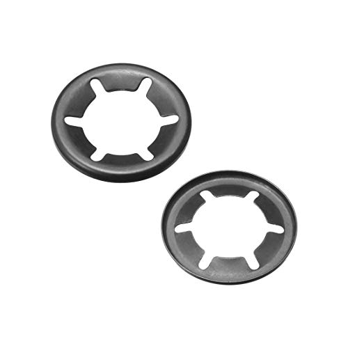 uxcell Internal Tooth Star Washers M16 x 28mm 304 Stainless Steel Push On Lock Washer Locking Clips Fastener 50pcs