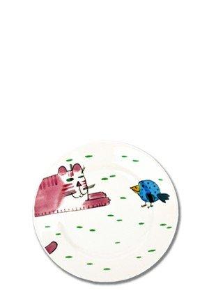 Helina Tilk chat avec oiseau Assiettes 19 cm Porcelaine Peint à la main