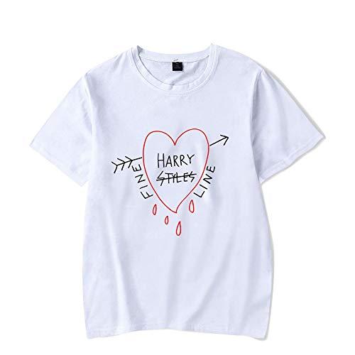 Harry Styles' New Album Fine Line Kurzarm T-Shirts für Männer und Frauen White 7 M