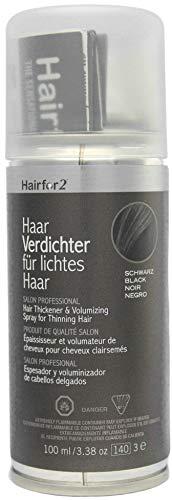 Hairfor2 Haarverdichtungsspray gegen lichtes Haar (100ml) (schwarz)