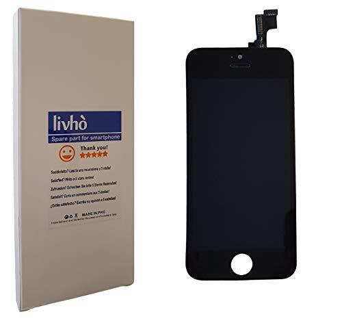 livhò® Display nero compatibile con iPhone 5C / Schermo LCD Retina e Vetro Touch Screen