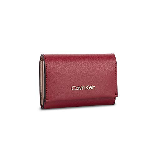 Calvin Klein Enfold Card Holder Wallet - Borse a tracolla Donna, Rosso (Barn Red), 1x1x1 cm (W x H L)