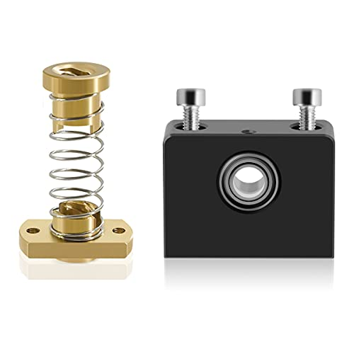 LANMU Z Axis T8 Anti Backlash Nut Compatible with Ender 3/3 Pro/3 V2/CR-10, with Lead Screw Top Mount, Upgrade 3D Printer Threaded Rod Nut and Bearing Holder