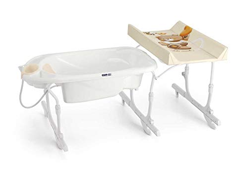 CAM Bade- & Wickelkombination Idro Baby Estraibile sicher & praktisch | Design made in Italy | Wickelkombination Babywanne