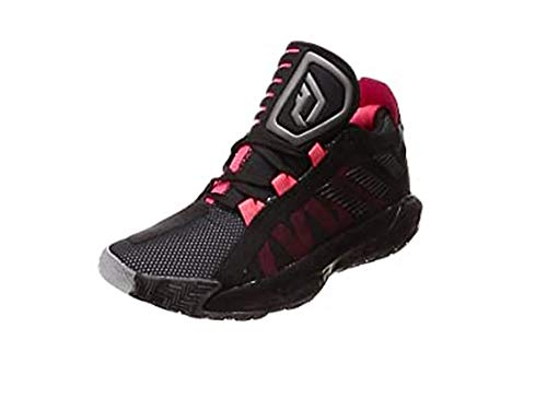 Adidas Dame 6 J, Zapatillas Deportivas, Core Black/Trace Grey Met. F17/SHOCK Red, 37 1/3 EU
