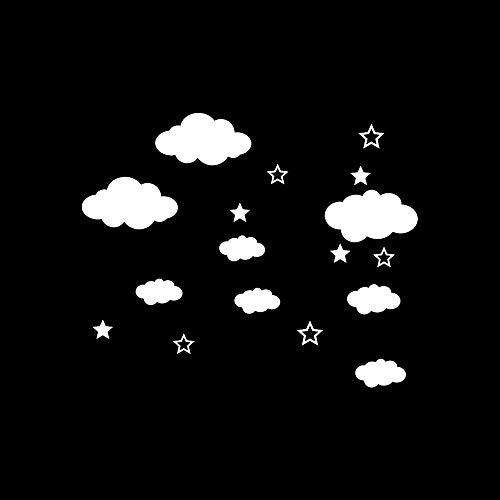 Stickers muraux Nuages Lune et /étoiles Sticker Mural Enfants b/éb/é Chambre d/écoration p/épini/ère Mur d/écor Jackallo p/épini/ère Sticker Mural