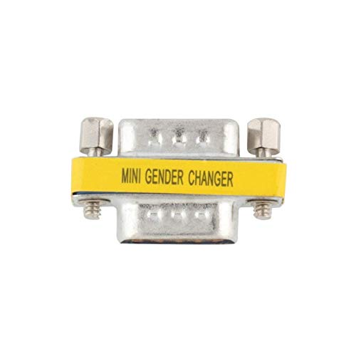 OGC DB9 Serial Port 9 Pin Male to Male Mini Gender Changer RS232-2 Pack