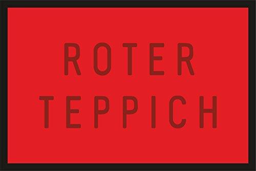 Fußmatte Türmatte Schmutzfangmatte für den stilvollen Auftritt: Roter Teppich 227