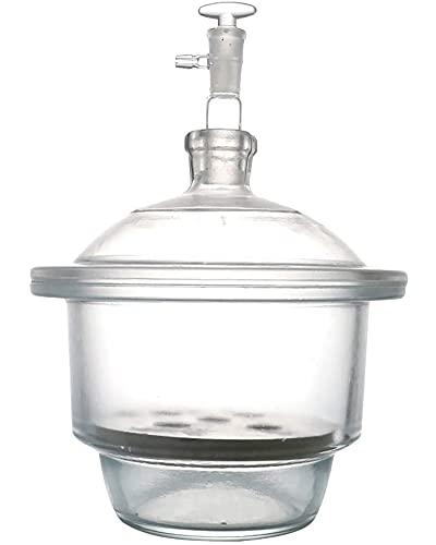 LLC con Secador De Vacío De Placa De Porcelana, Desecador De Vidrio Transparente para Laboratorio, Adecuado para Equipos De Secado De Laboratorio Escolar,180mm