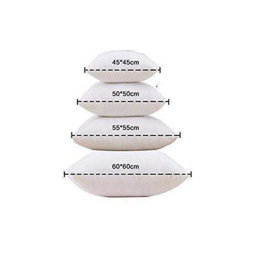 Leisial Coussins en Coton Coussins de garnissage Doux Coussin Decoration pour Canapé Blanc 35X55cm