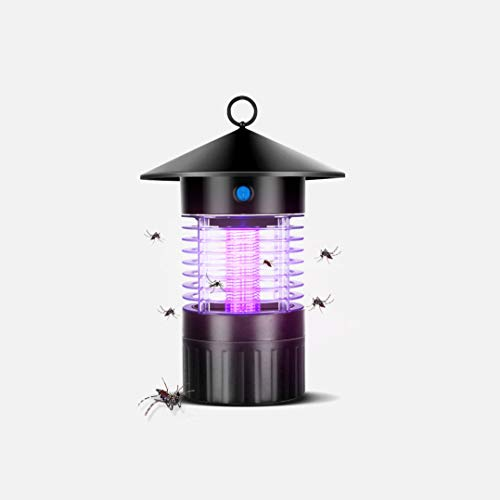 WANY Lámpara Antimosquitos Electrico Lámpara Solar Anti Mosquitos,Material ABS + Acero Inoxidable,Control de luz Inteligente,lámpara Ultravioleta Anti Mosquitos,Impermeable,silenciosa,Carga USB.