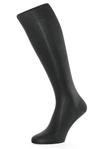 Albert Kreuz Herren-Kniestrümpfe aus 98% Seide schwarz 45-47