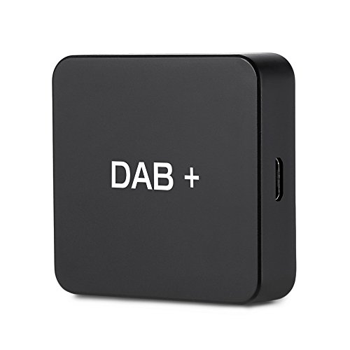 Car Kit Digital Audio Broadcast DAB DAB+ Box Empfängeradapter mit Antenne für Autoradio Android 5.1 und höher, Digitaler Radio Antennentuner UKW-Übertragung USB (nur für Länder mit DAB-Signal)
