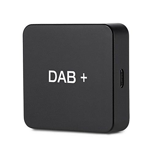 Car Kit Digital Audio Broadcast DAB DAB + Box Empfängeradapter mit Antenne für Autoradio Android 5.1 und höher, Digitaler Radio Antennentuner UKW-Übertragung USB (nur für Länder mit DAB-Signal)