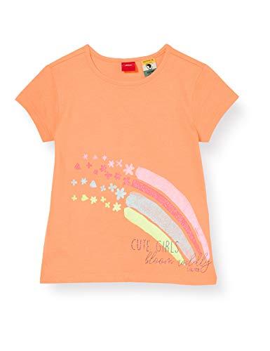 s.Oliver Junior Mädchen 403.10.004.12.130.2020038 T-Shirt, 2034 orange, 116/122/REG