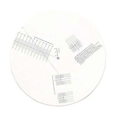 Tongdejing Turntable Cartridge Alignment Protractor Mat, Acrylic Anti-sliding LP Vinyl Record Calibration Plate Adjustment Tool Phonograph Anti-Slip Tool for Turntable Accessory
