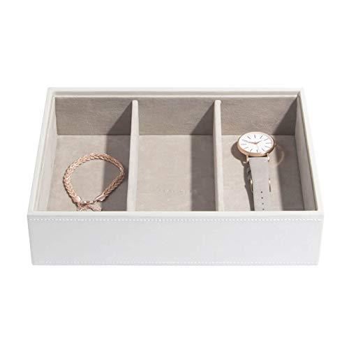 Stackers Weiß Klassisch Schmuckschatulle Schmuckfach für Uhren/Accessoires