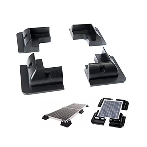 ZIHAN Feil Store RV Yacht Solar Soporte Soporte sobre Solar Soporte ABS Soporte Black 4 Pieza Conjunto de Soporte de Montaje de Panel Solar 4pcs (Color : 1 Set)