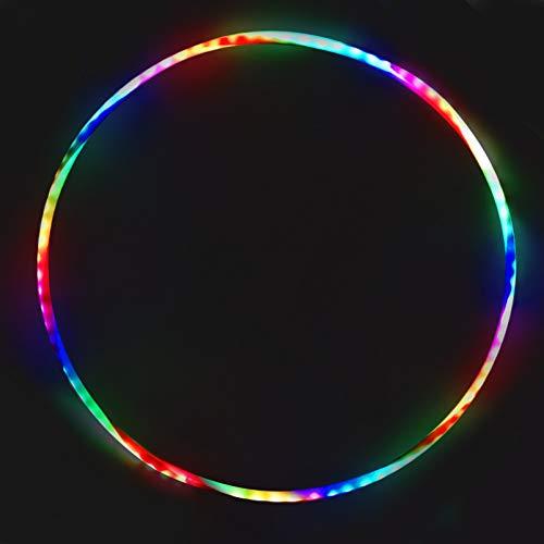 TaimeiMao 90cm Led Gymnastik Kreis für Kinder,LED Tanzen Hoola-Reifen,Fitness Hoola-Reifen,Fitness Gymnastik Kreis zur Gewichtsreduktion und Massage,Abnehmbarer Hoola-Reifen für Erwachsene & Kinde